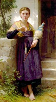 Bouguereau, William-Adolphe - The Spinner