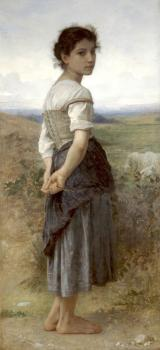 Bouguereau, William-Adolphe - Young Shepherdess