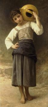 Bouguereau, William-Adolphe - Young Girl Going to the Fountain
