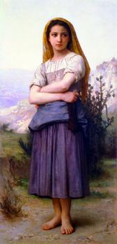 William-Adolphe Bouguereau : The Knitter