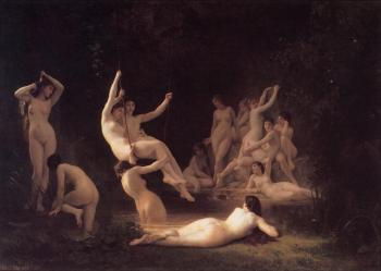 William-Adolphe Bouguereau : The Nymphaeum