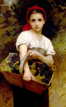 William-Adolphe Bouguereau : The Grape Picker
