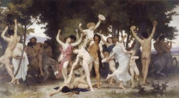 William-Adolphe Bouguereau : The Youth of Bacchus