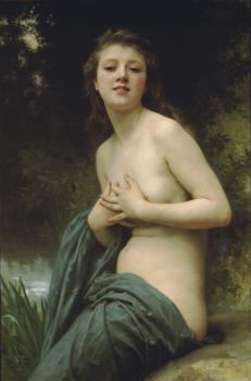 Bouguereau, William-Adolphe - La Brise du Printemps(Spring Breeze)