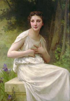 Bouguereau, William-Adolphe - Reflexion(Reflection)