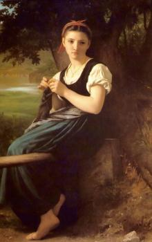 Bouguereau, William-Adolphe - Tricoteuse(The Knitter)