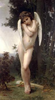 William-Adolphe Bouguereau : L'Amour Mouille (Wet Cupid)