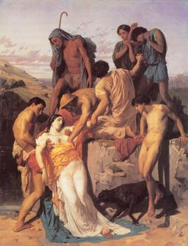 William-Adolphe Bouguereau : Zenobia retrouvee par les bergers sur les bords de l'Araxe (Zenobia Found by Shepherds on the Banks of the Araxes)