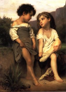 William-Adolphe Bouguereau : Au Bord du Ruisseau (At the Edge of the Brook)
