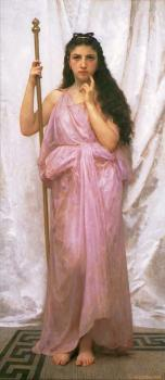 William-Adolphe Bouguereau : Jeune Pretresse(Young Priestess)
