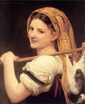 William-Adolphe Bouguereau : Le retour du marche (Returned from the market)