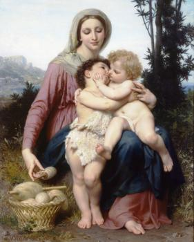 William-Adolphe Bouguereau : Sainte Famille (The Holy Family)