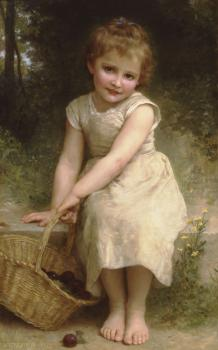William-Adolphe Bouguereau : Les Prunes , Plums