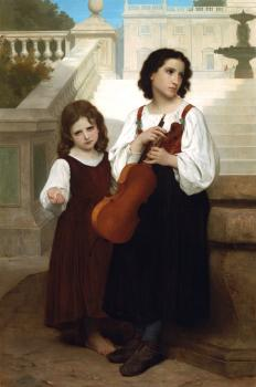 William-Adolphe Bouguereau : Loin du pays, Far from home