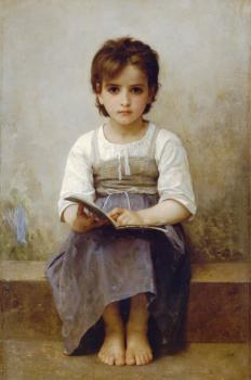 William-Adolphe Bouguereau : La lecon difficile, The difficult lesson