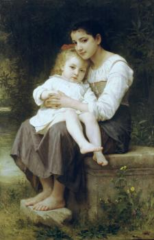 William-Adolphe Bouguereau : La soeur ainee, Big sis'