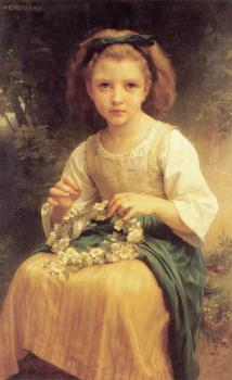 Enfant tressant une couronne, Child braiding a crown
