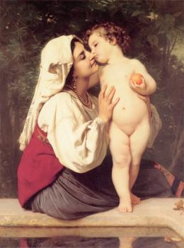 William-Adolphe Bouguereau : Le Baiser, The Kiss