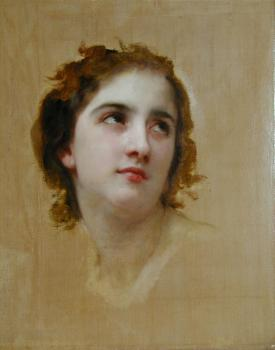 William-Adolphe Bouguereau : Sketch of a Young Woman
