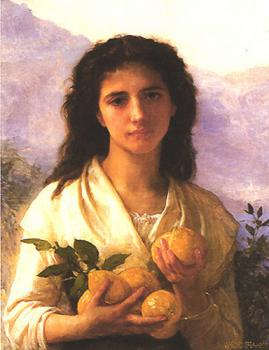 William-Adolphe Bouguereau : Girl Holding Lemons