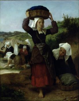 William-Adolphe Bouguereau : Washerwomen of Fouesnant