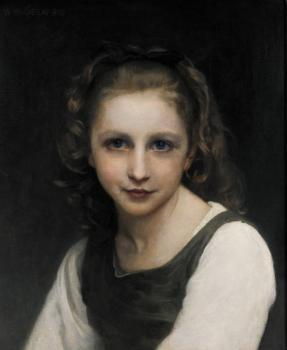 William-Adolphe Bouguereau : Portrait of a Young Girl II