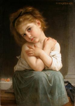 William-Adolphe Bouguereau : La frileuse, Chilly girl