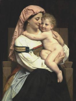 William-Adolphe Bouguereau : Femme de Cervara et Son Enfant, Woman of Cervara and Her Child
