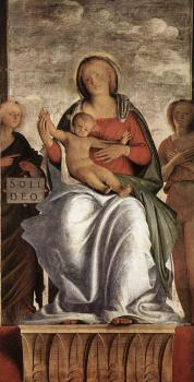 Bramantino : Madonna and Child with Two Angels