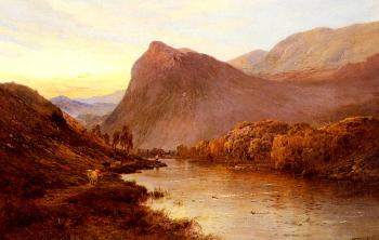 Alfred De Breanski : Sunset In The Glen