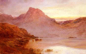 Alfred De Breanski : The Evening Glow, Near Arrochar