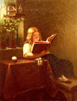 Johann Georg Meyer Von Bremen : The Reading Girl