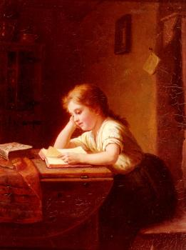 Johann Georg Meyer Von Bremen : The Reading Girl II