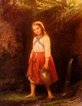 Johann Georg Meyer Von Bremen : The Young Water Carrier