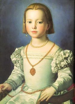 Agnolo Bronzino : Bia, The Illegitimate Daughter of Cosimo I de' Medici