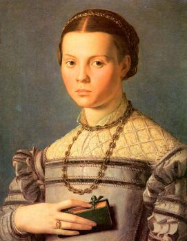 Agnolo Bronzino : Portrait of a Young Girl with a Prayer Book
