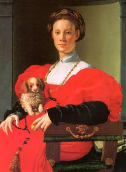 Bronzino, Agnolo - A Lady with a Puppy
