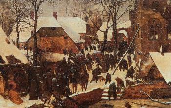 Pieter The Elder Bruegel : The Adoration of the Kings in the Snow
