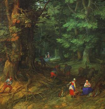 Forest Landscape (Rest on the Flight to Egypt), detail
