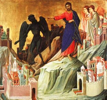 Duccio Di Buoninsegna : Temptation on the Mount