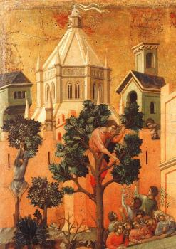 Duccio Di Buoninsegna : Entry Into Jerusalem, detail