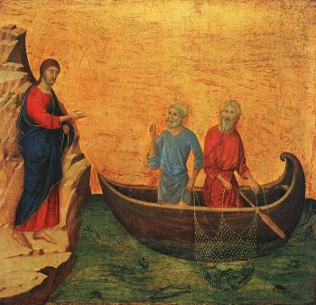 Duccio Di Buoninsegna : The Calling of the Apostles Peter and Andrew
