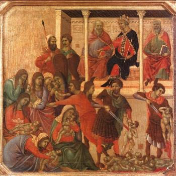 Duccio Di Buoninsegna : Slaughter of the Innocents