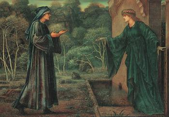 Sir Edward Coley Burne-Jones : Pilgrim at the Gate of Idleness