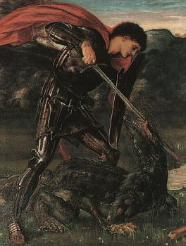 St. George Kills the Dragon, detail