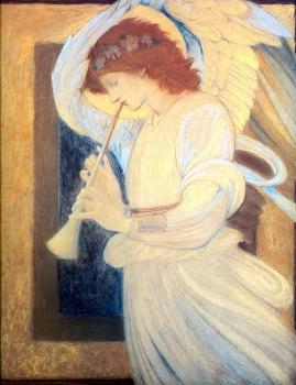 Sir Edward Coley Burne-Jones : Angel