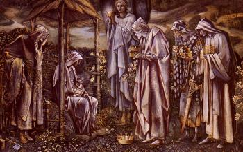 Sir Edward Coley Burne-Jones : The Star Of Bethlehem II