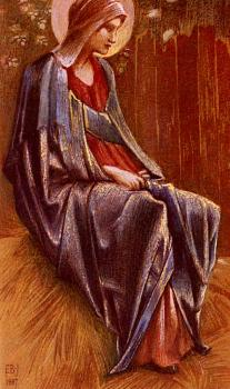 Sir Edward Coley Burne-Jones : The Virgin