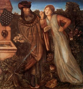 Sir Edward Coley Burne-Jones : King Mark and La Belle Iseult
