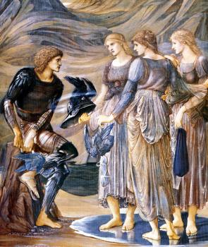 Sir Edward Coley Burne-Jones : Perseus and the Sea Nymphs